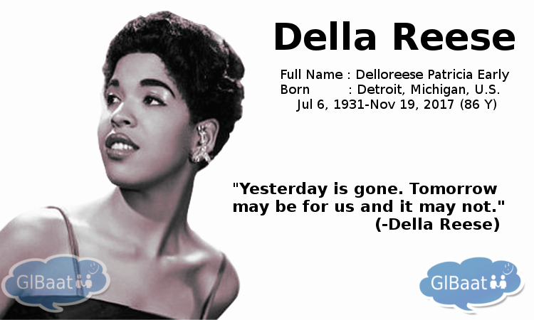Celebrities who Passed away in 2017 About Della Reese Quote