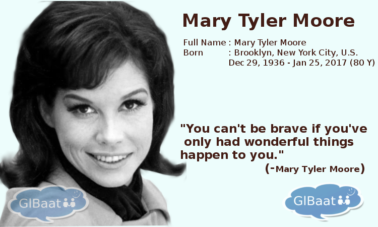 Celebrities who Passed away in 2017 About Marry Tyler Moore Quote